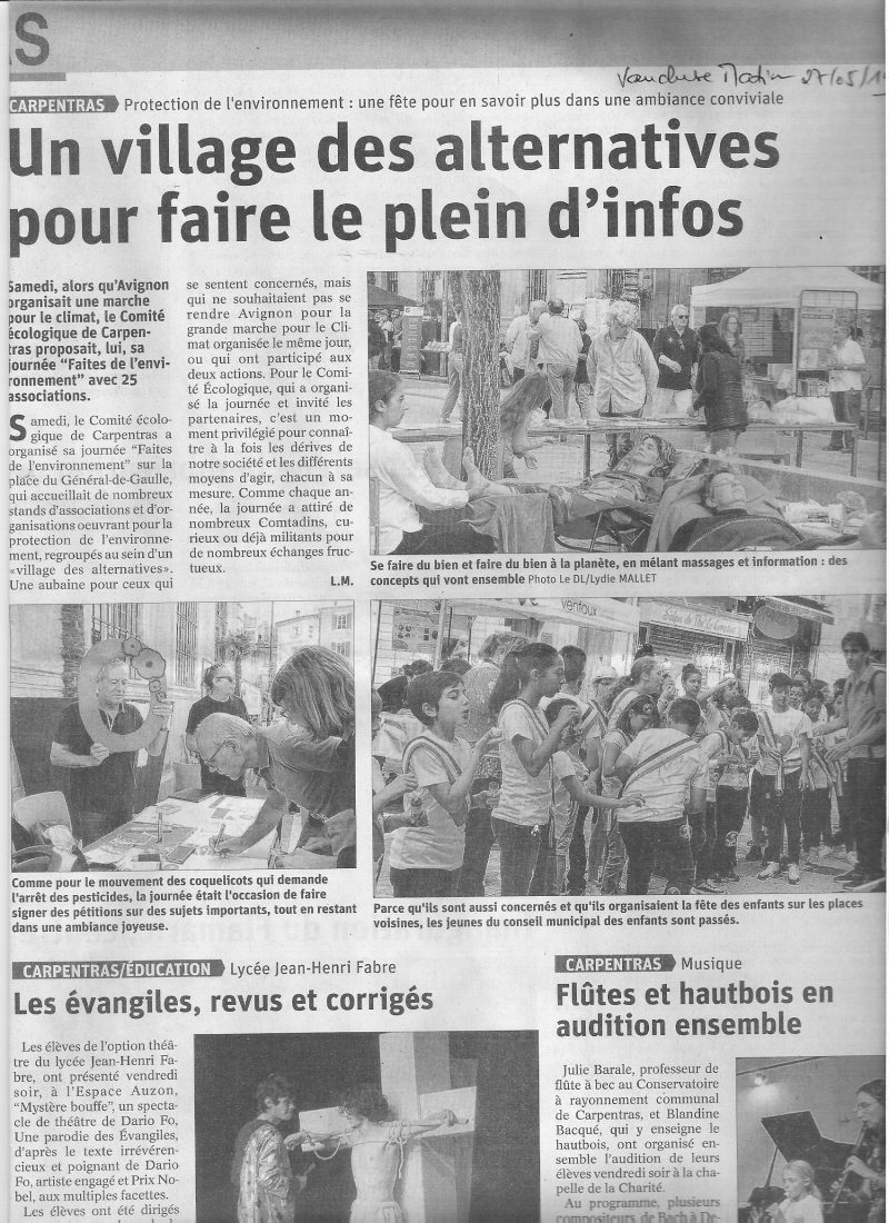 Article Vaucluse Matin Reliance 84